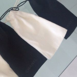 Chanel white glasses pouch