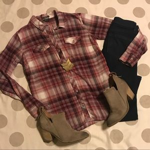 Eddie Bauer plaid button down shirt