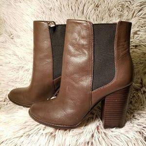 Banana Republic Brown Boots with Wooden Block Heel