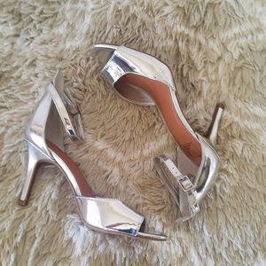 Sandals Metallic Ankle Strap Open Toe High Heels