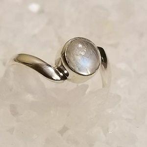 NEW! Rainbow moonstone ring