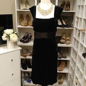 NWT JESSICA H BLACK VELVET FEEL DRESS 12