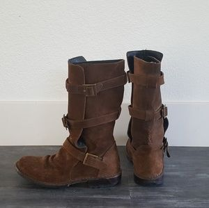 Chocolate Suede Fiorentini & Baker Boots