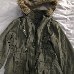 Wet Seal Army Green Jacket