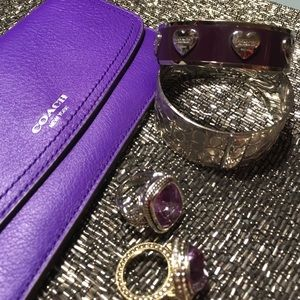 Coach Violet Purple Leather Wallet