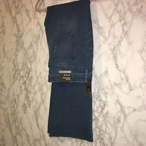 NWT Hippie Stretchy Skinny Bootcut Frayed Jeans 12