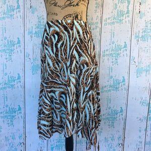 Alberto Makali asymmetrical animal print skirt