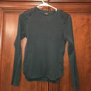 ZARA TOP WITH LEATHER SHOULDER DETAILING