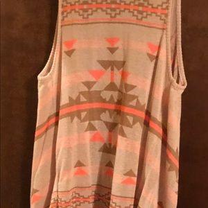 Blu Pepper - Size Lg - Cardigan Sweater - Coral