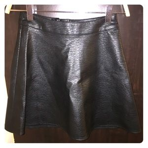 H&M | Leather Skirt