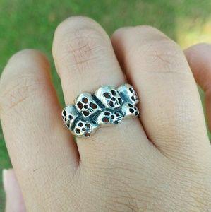 skulls skull sterling silver ring