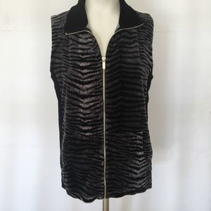 Women's Animal Print Vest Sz M