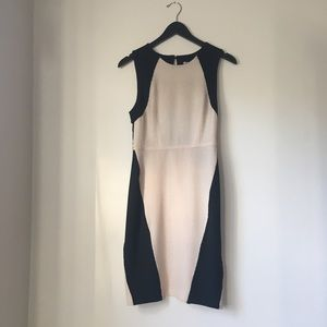 Rachel Roy Soft Tan & Black Dress with Lace Back