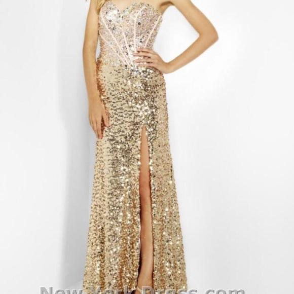 Riva Designs Dresses | Gold Ball Gown Prom Dress Size 2 | Poshmark