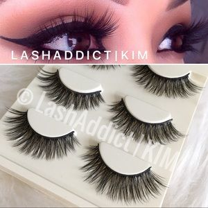 3 Pairs Mink Lashes Eyelashes 3d Fur Makeup new