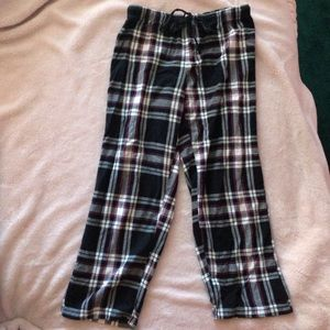 Pink and Black Plaid Pajama Pants