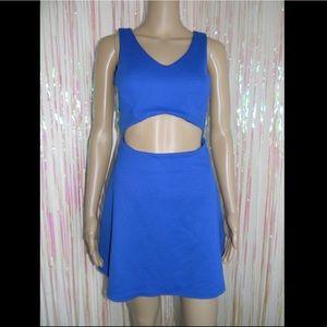 Blue Cut Out Dress 508
