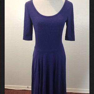 Lularoe Purple Midi Dress Sz S