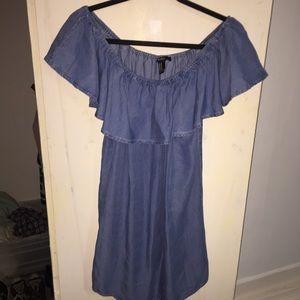 Off the shoulder denim dress