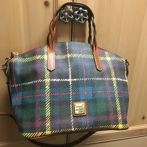 Dooney & Bourke Black TARTAN PLAID satchel Purse