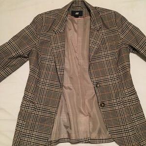 H & M Faux tweed blazer