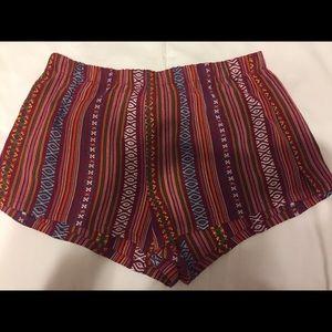 FOREVER 21 // Tribal Pattern Shorts