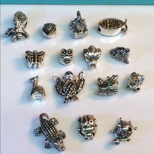 🐢🐞Lot of 15-Charms for Pandora,Zales,etc SlideOn