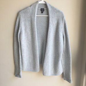 Eileen Fisher Wool Cashmere Open Knit Cardigan