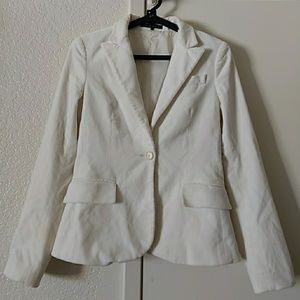 Theory Size 4 Light beige one Button Style Blazer