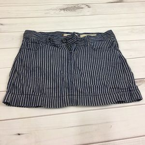 Gap jeans stripe skirt