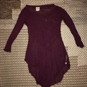 free people wine colored top