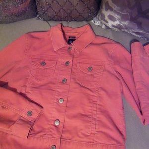 GAP Cotton Candy Pink Corduroy Jacket - Medium