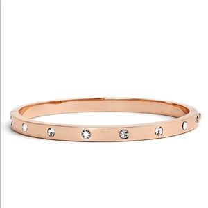 Kate Spade Stone Hinged Bracelet/Rose Goldtone