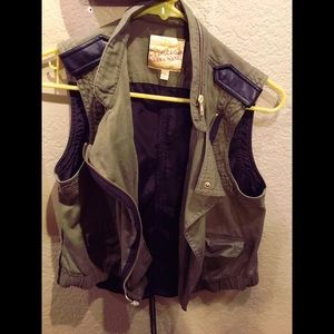 Army green princess Vera wang vest