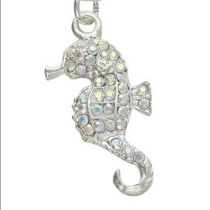 Classic mermaid's companion seahorse pendant