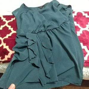 Banana Republic Teal Professional top size 4