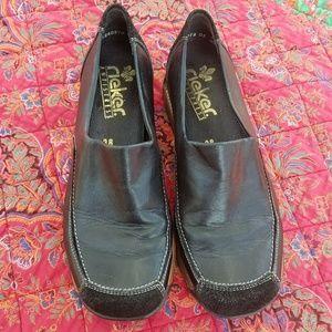 Rieker antistress black leather shoes