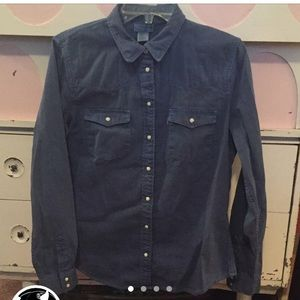 Levi's denim western shirt  pearl snap buttons