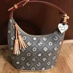 Dooney and Bourke coated canvas hobo bag