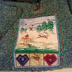 Cute Marled Quarter Zip/Winter Theme