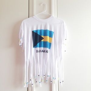 Bahamas Beaded Vintage Cropped Tee