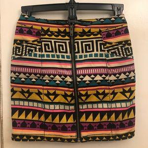 H&M Aztec mini skirt