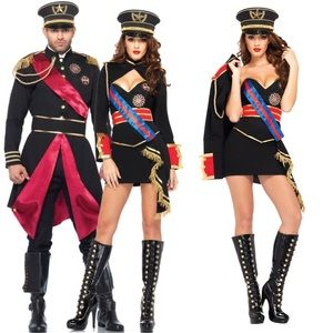 Dictator Costumes Single or Couple With Hats