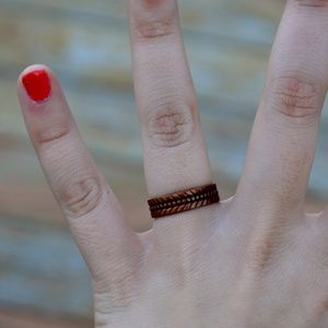 Wheeler Manufacturing CO Copper Band Ring Size 9