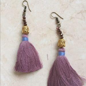 Gorgeous goddess Buddha tassel earrings