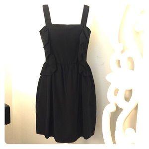 H&M  BLACK RUFFLE DRESS