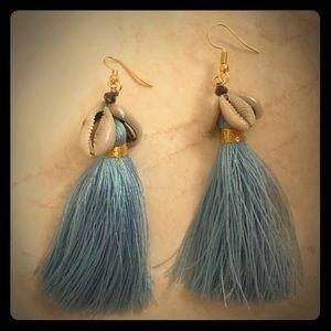 Gorgeous goddess shell tassel earrings