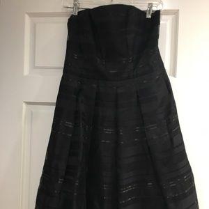 White and black size 8  black dress medium