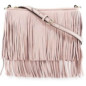 Rebecca Minkoff Finn Leather Fringe Crossbody