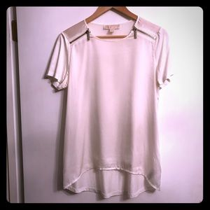 Michael Kors silky tee with side zips